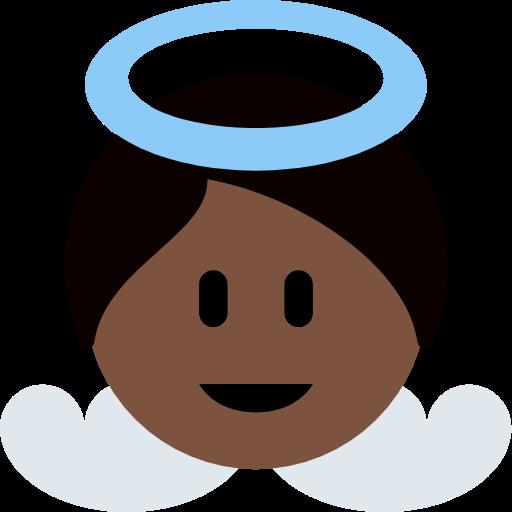 👼🏿 Emoji Baby Angel: Dark Skin Tone