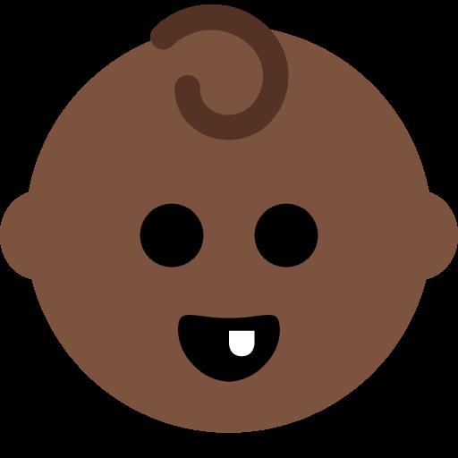 👶🏿 Emoji Baby: Dark Skin Tone