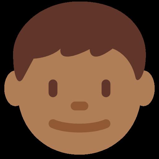 👦🏾 Emoji Boy: Medium-Dark Skin Tone