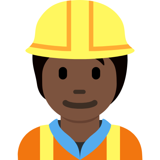 👷🏿 Emoji Construction Worker: Dark Skin Tone