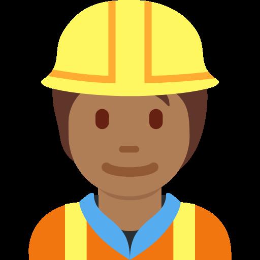 👷🏾 Emoji Construction Worker: Medium-Dark Skin Tone