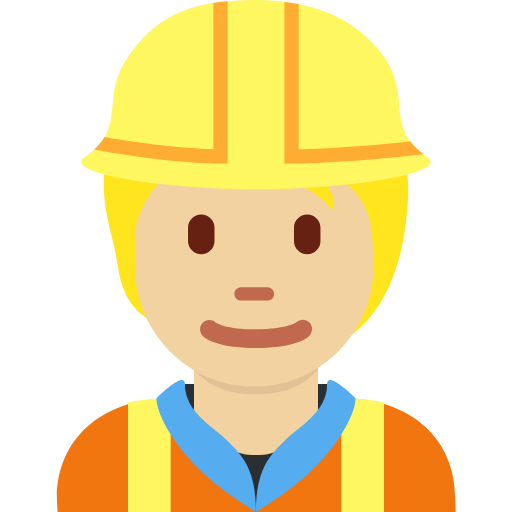 👷🏼 Emoji Construction Worker: Medium-Light Skin Tone