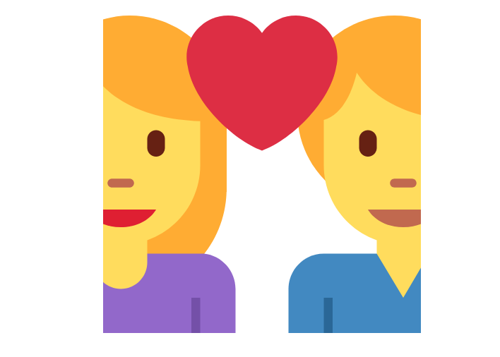 👩❤️👨 Emoji Couple with Heart: Woman, Man