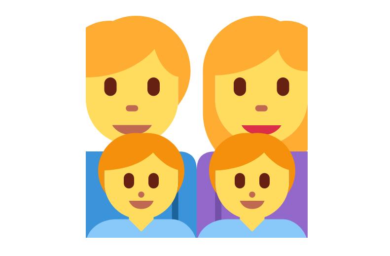 👨👩👦👦 Emoji Family: Man, Woman, Boy, Boy