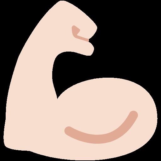💪🏻 Emoji Flexed Biceps: Light Skin Tone