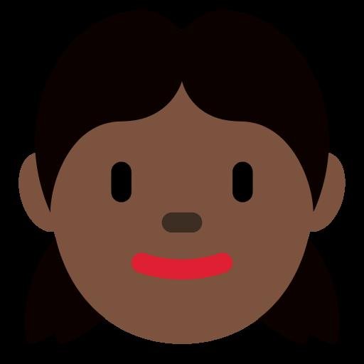 👧🏿 Emoji Girl: Dark Skin Tone
