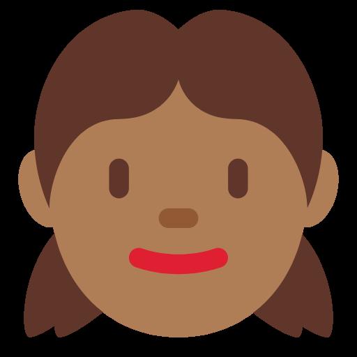 👧🏾 Emoji Girl: Medium-Dark Skin Tone