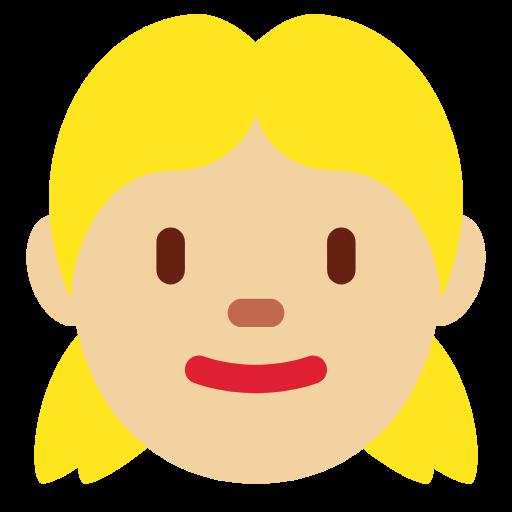 👧🏼 Emoji Girl: Medium-Light Skin Tone