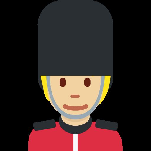💂🏼 Emoji Guard: Medium-Light Skin Tone