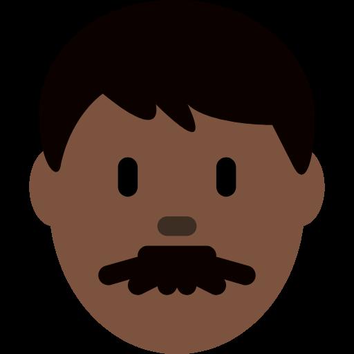 👨🏿 Emoji Man: Dark Skin Tone