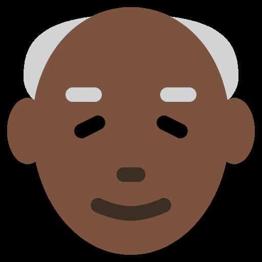 👴🏿 Emoji Old Man: Dark Skin Tone