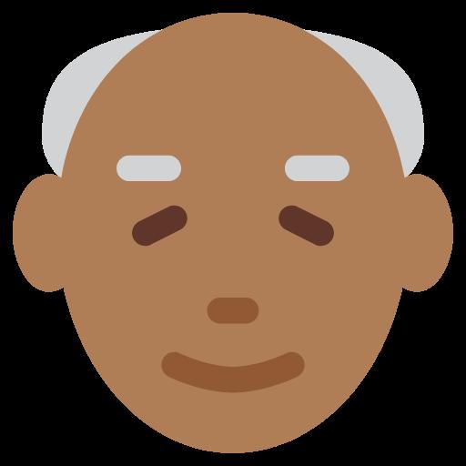 👴🏾 Emoji Old Man: Medium-Dark Skin Tone