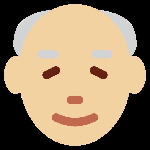 👴🏼 Emoji Old Man: Medium-Light Skin Tone