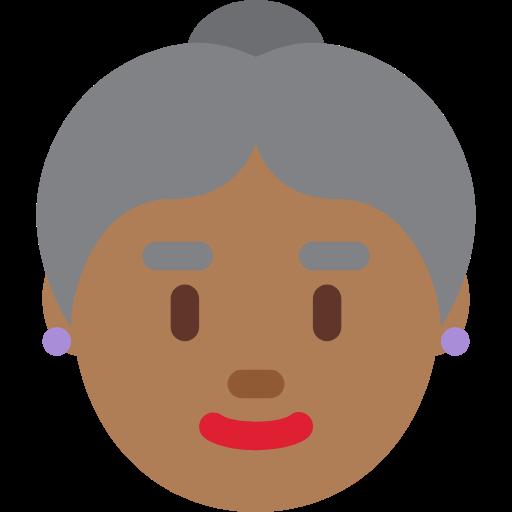 👵🏾 Emoji Old Woman: Medium-Dark Skin Tone