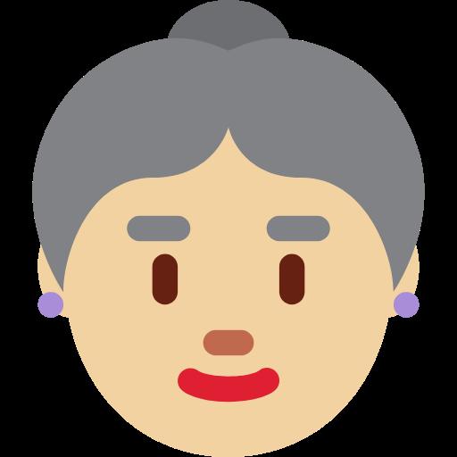 👵🏼 Emoji Old Woman: Medium-Light Skin Tone