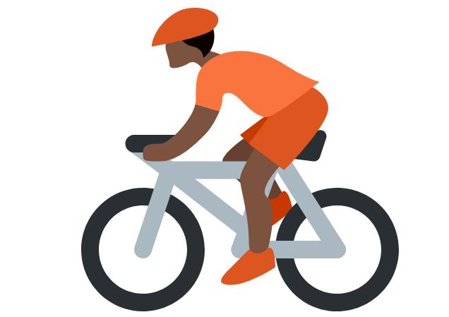 🚴🏿 Emoji Person Biking: Dark Skin Tone