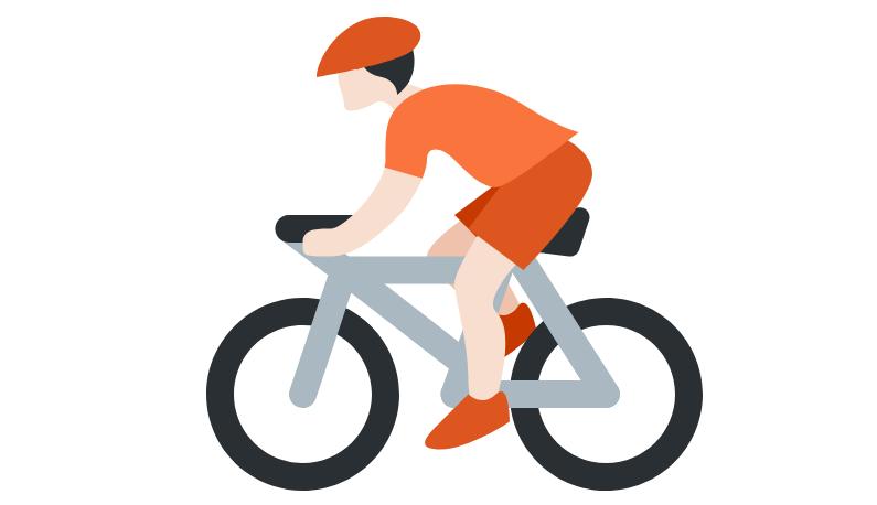 🚴🏻 Emoji Person Biking: Light Skin Tone