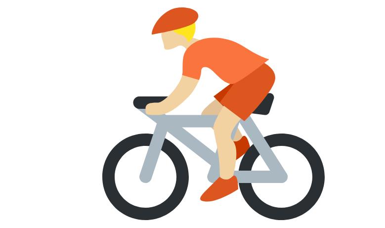 🚴🏼 Emoji Person Biking: Medium-Light Skin Tone