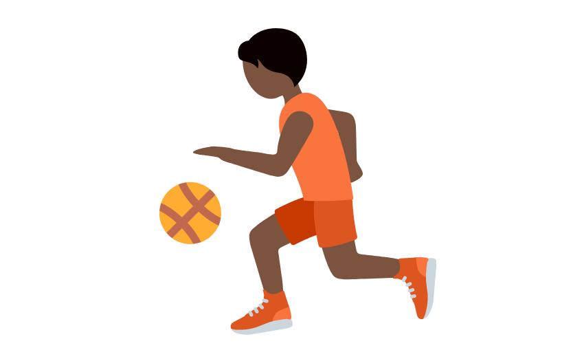 ⛹🏿 Emoji Person Bouncing Ball: Dark Skin Tone