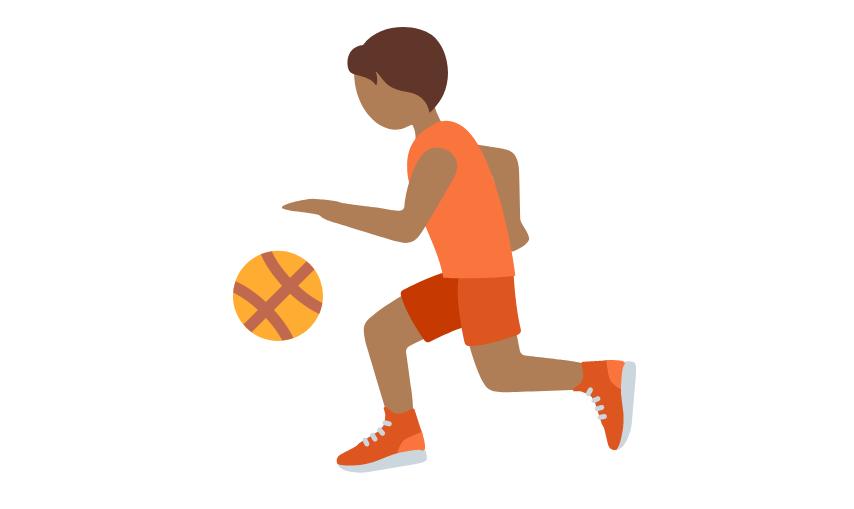 ⛹🏾 Emoji Person Bouncing Ball: Medium-Dark Skin Tone