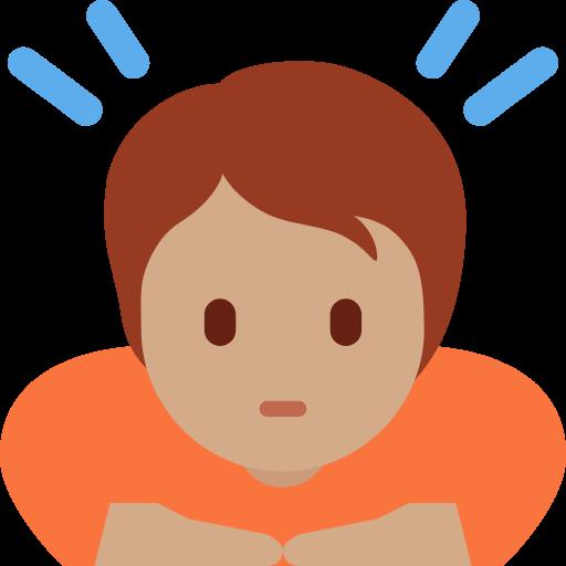 🙇🏽 Emoji Person Bowing: Medium Skin Tone