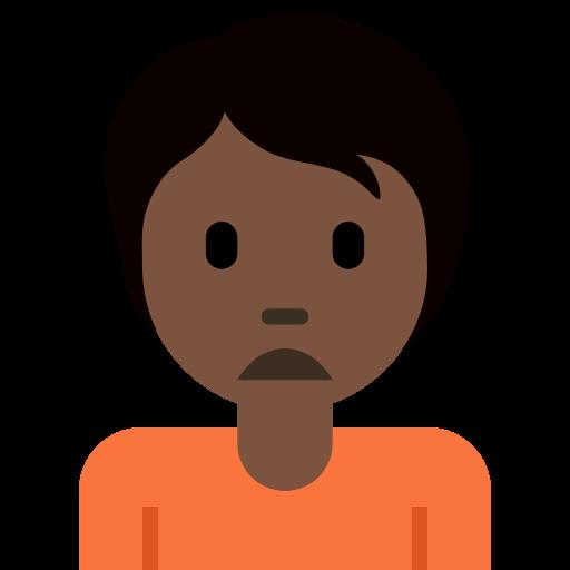🙍🏿 Emoji Person Frowning: Dark Skin Tone