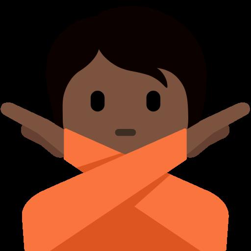🙅🏿 Emoji Person Gesturing No: Dark Skin Tone