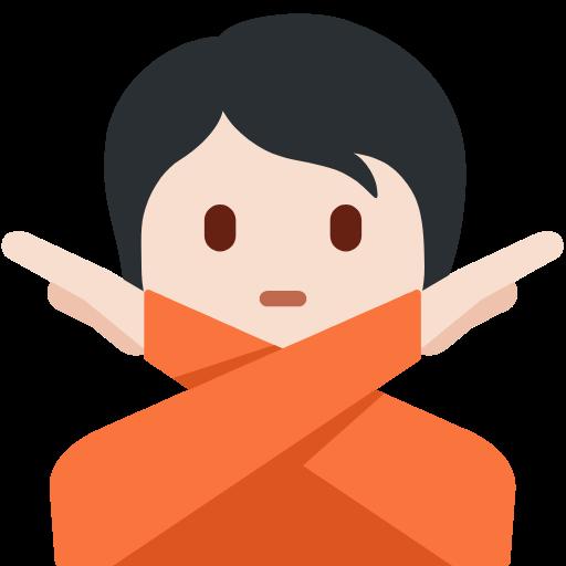 🙅🏻 Emoji Person Gesturing No: Light Skin Tone