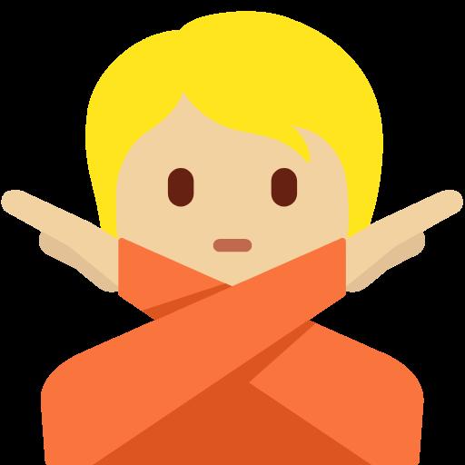 🙅🏼 Emoji Person Gesturing No: Medium-Light Skin Tone