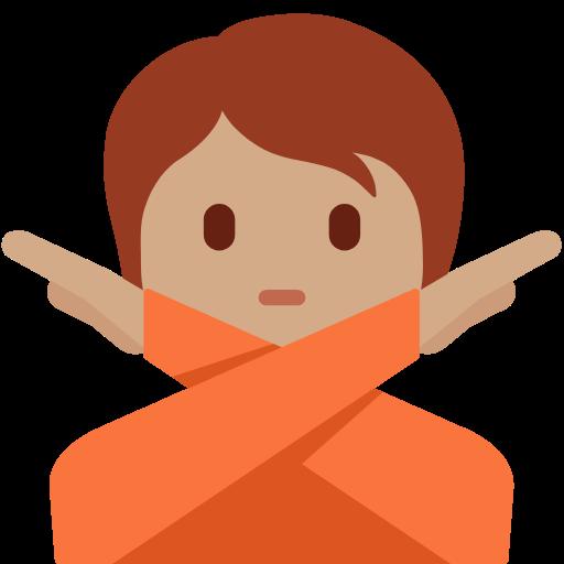🙅🏽 Emoji Person Gesturing No: Medium Skin Tone