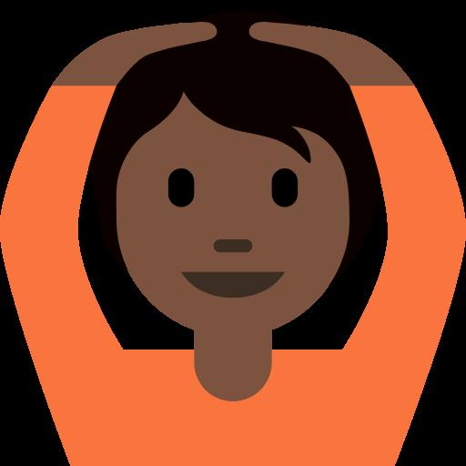 🙆🏿 Emoji Person Gesturing OK: Dark Skin Tone