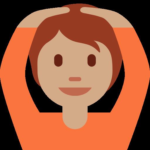 🙆🏽 Emoji Person Gesturing OK: Medium Skin Tone