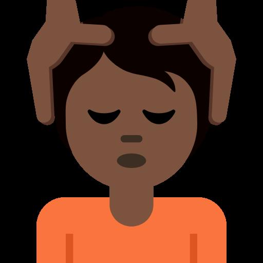 💆🏿 Emoji Person Getting Massage: Dark Skin Tone