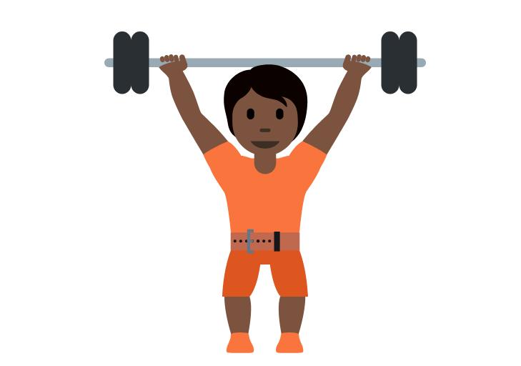 🏋🏿 Emoji Person Lifting Weights: Dark Skin Tone