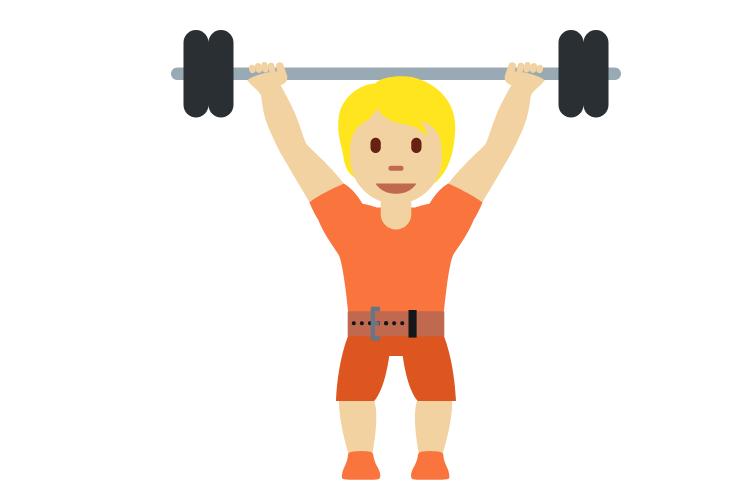 🏋🏼 Emoji Person Lifting Weights: Medium-Light Skin Tone