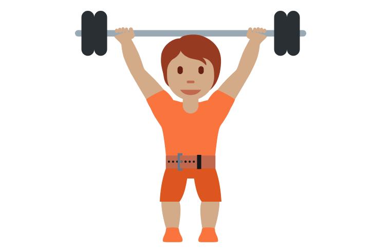 🏋🏽 Emoji Person Lifting Weights: Medium Skin Tone