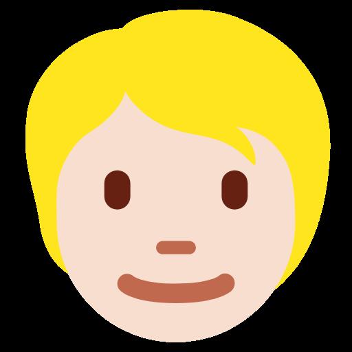 👱🏻 Emoji Person: Light Skin Tone, Blond Hair