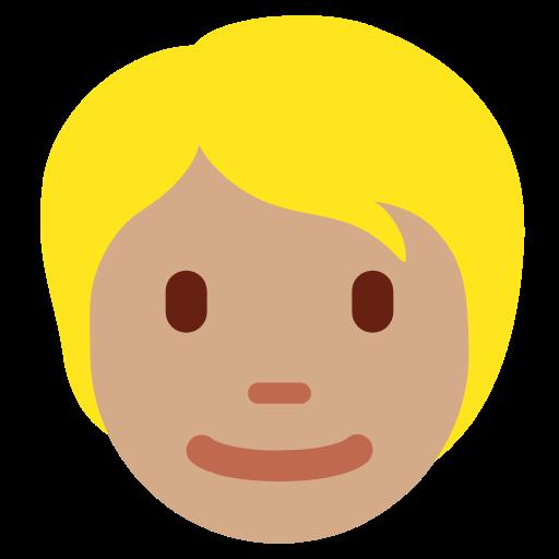 👱🏽 Emoji Person: Medium Skin Tone, Blond Hair