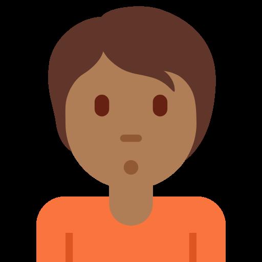 🙎🏾 Emoji Person Pouting: Medium-Dark Skin Tone
