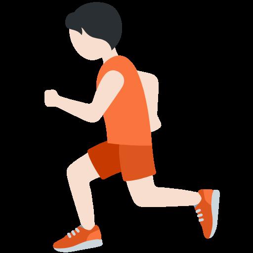 🏃🏻 Emoji Person Running: Light Skin Tone