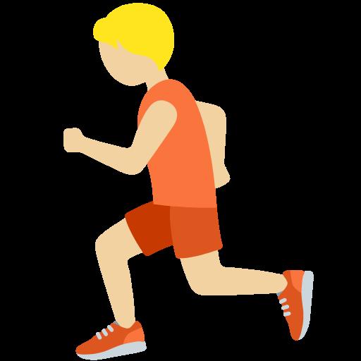 🏃🏼 Emoji Person Running: Medium-Light Skin Tone