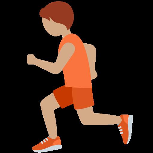 🏃🏽 Emoji Person Running: Medium Skin Tone