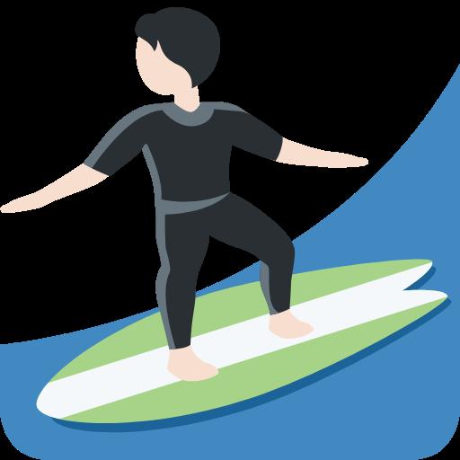 🏄🏻 Emoji Person Surfing: Light Skin Tone