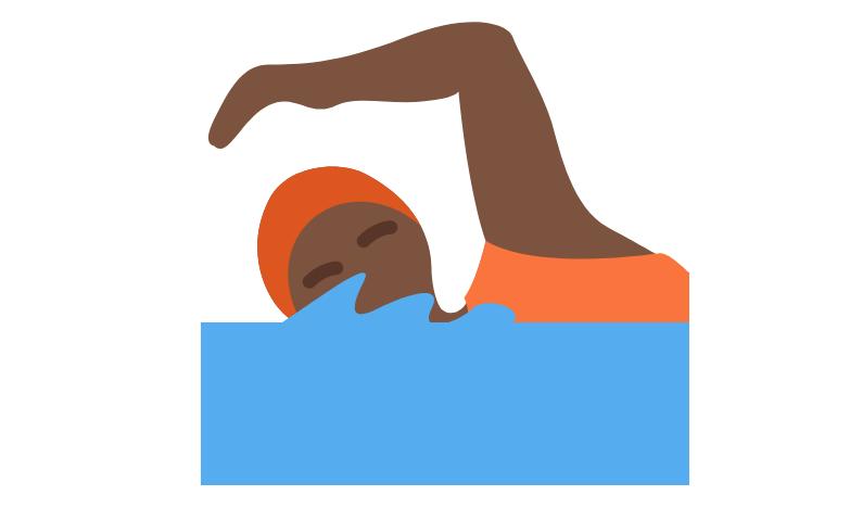 🏊🏿 Emoji Person Swimming: Dark Skin Tone