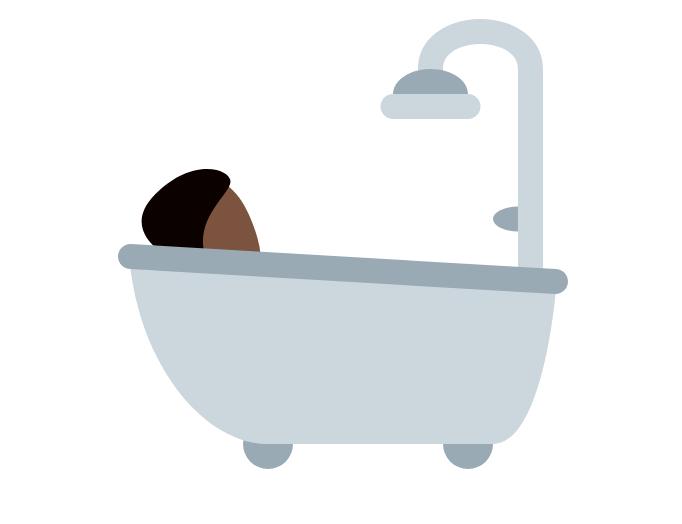 🛀🏿 Emoji Person Taking Bath: Dark Skin Tone