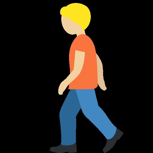 🚶🏼 Emoji Person Walking: Medium-Light Skin Tone