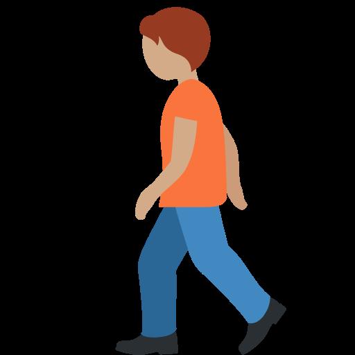 🚶🏽 Emoji Person Walking: Medium Skin Tone