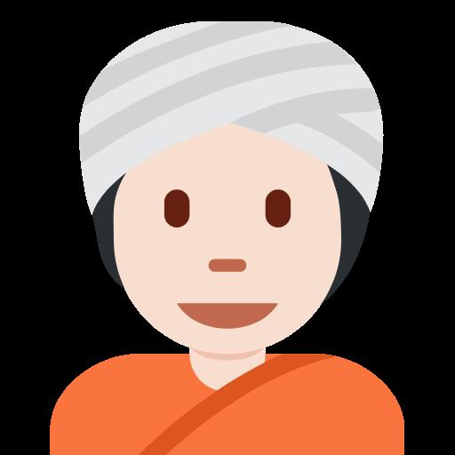 👳🏻 Emoji Person Wearing Turban: Light Skin Tone