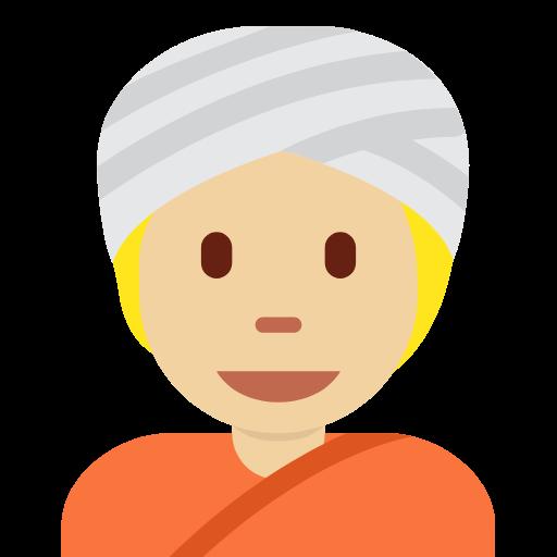 👳🏼 Emoji Person Wearing Turban: Medium-Light Skin Tone