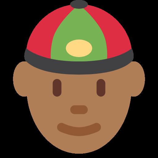 👲🏾 Emoji Person With Skullcap: Medium-Dark Skin Tone
